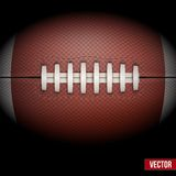 Background of American Football ball. Vector. Royalty Free Stock Image