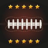 Background of American Football ball. Vector Royalty Free Stock Image
