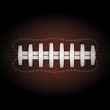 Background of American Football ball. Vector Stock Photography