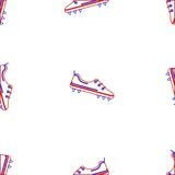 Background for American football shoes Royalty Free Stock Photos