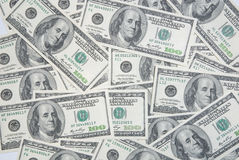 Background with american hundred dollar bills Royalty Free Stock Image