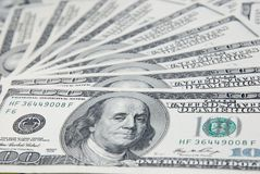 Background with american hundred dollar bills Royalty Free Stock Photo
