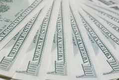 Background with american hundred dollar bills Stock Photo