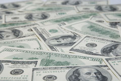 Background with american hundred dollar bills Royalty Free Stock Photos