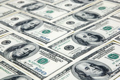 Background with american hundred dollars Stock Photography