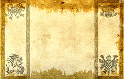 Background with American Indian traditional patterns Royalty Free Stock Images