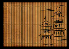 Background - an ancient Japanese reed mat Stock Image