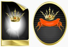 Background in ancient style with a gold crown Royalty Free Stock Photos