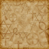 Background with ancient symbols Royalty Free Stock Images