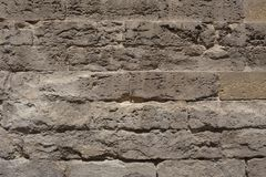 Ancient Stone Wall. Background - Ancient yellow Stone Wall Stock Photos