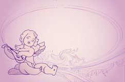 Background with an angel. Invitation to the wedding with an angel royalty free illustration