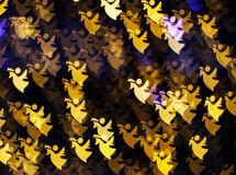 Background of angels. Blurring lights bokeh background of angels royalty free stock image