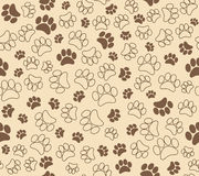 Background animal footprints seamless pattern Royalty Free Stock Photos