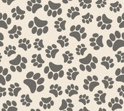Background animal footprints seamless pattern Royalty Free Stock Images