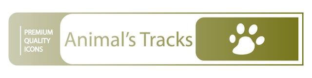 background animal tracks icons royalty free illustration