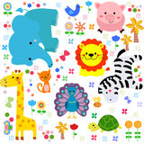 Background with animals Royalty Free Stock Photos