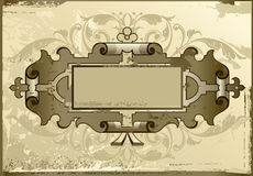 Background antique. Design of a vector background in vintage style Stock Photography