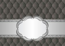 Background. Antique background with decorative pattern and frame Stock Images