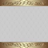 Background. Antique background with decorative pattern golden ornament Stock Photography