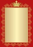 Background. Antique background with golden royal frame Stock Image