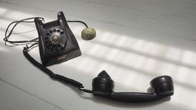 Background antique telephone has copy space Royalty Free Stock Photo