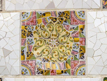 Background of Antonio Gaudi mosaics royalty free stock photos