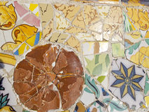 Background of Antonio Gaudi mosaics Stock Photos