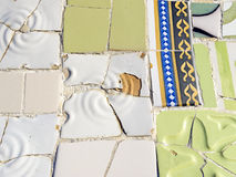 Background of Antonio Gaudi mosaics Stock Photo