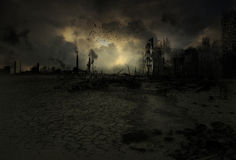 Background - apocalyptic scenario. Wallpaper with a doomsday scenario Royalty Free Stock Photos