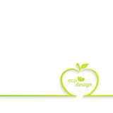 Background with apple outline. Can be used for Stock Photo