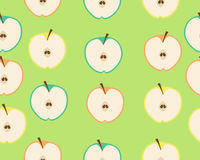 Background apple. Vector seamless pattern Royalty Free Stock Photography