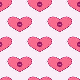 Background with applique hearts Stock Image