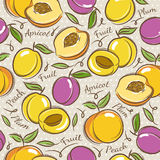 Background with apricot, plum and peach Royalty Free Stock Photos