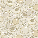 Background with apricot, plum and peach Stock Photo