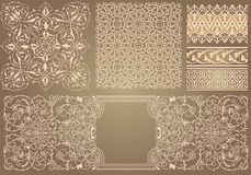 Background in Arabian style. Background with pattern in Arabian style Stock Photo