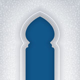 Background with Arabic Arch. Illustration of arabic arch, with floral pattern, background for ramadan kareem greeting cards, EPS 10 contains transparency vector illustration