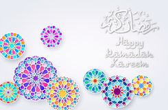 Background with Arabic Colorful Patterns royalty free illustration