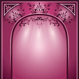 Background with arch and decorative ornament Royalty Free Stock Image