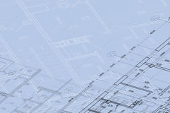 Background of architectural drawing Royalty Free Stock Photos