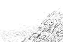 Background of architectural drawing stock image