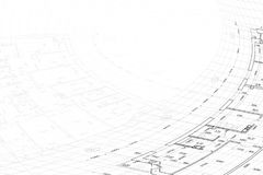 Background of architectural drawing. Part of abstract architectural project on the white background Stock Photos