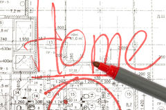 Background of the architectural drawings Royalty Free Stock Photography