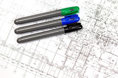 Background of the architectural drawings Royalty Free Stock Photo