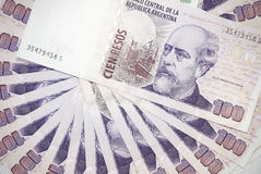 Background of Argentinean pesos Royalty Free Stock Images