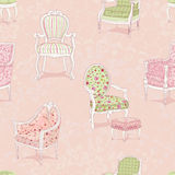 Background with armchairs Stock Images