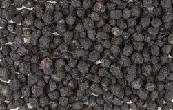 Background of aronia berries. Dried black aronia berries - aronia arbutifolia Royalty Free Stock Photos