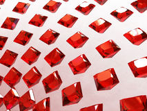 Background array of square garnets Royalty Free Stock Image