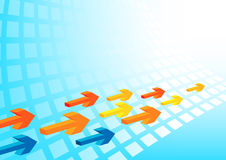 Background with arrows. Business background with colorful arrows Royalty Free Stock Photography