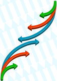Background with Arrows. Background with multicolor arrows oriented in opposite directions Stock Photo