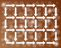 Background with arrows Royalty Free Stock Images